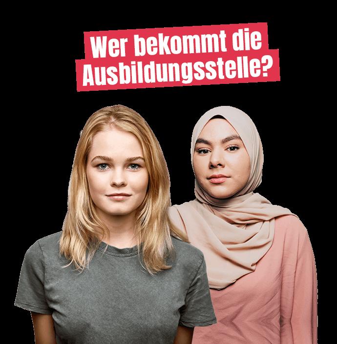 Kampagnenmotiv – Wer bekommt die Ausbildungsstelle
